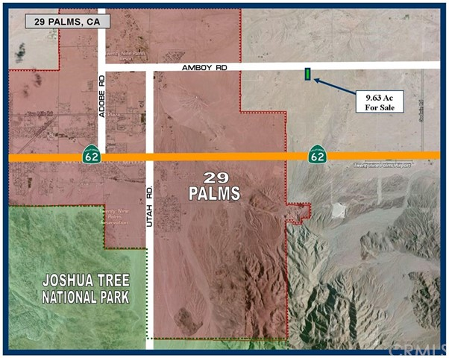 0 Amboy Road 29 Palms, CA 92277 - MLS #: SW17274061