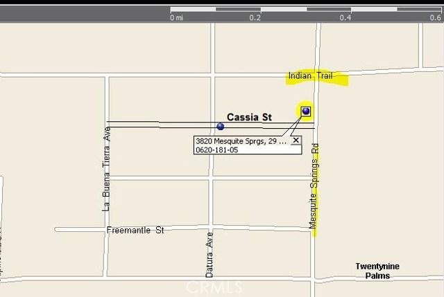 3820 Mesquite Springs Road 29 Palms, CA 92277 - MLS #: DW17256158