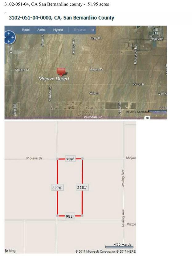 0 Mojave/Sonora Rd Road Adelanto, CA 92371 - MLS #: DW17232111
