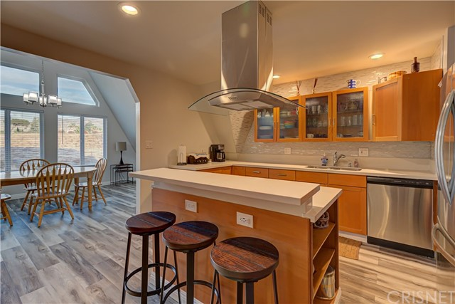 Kitchen Opens to dining room.