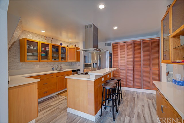 Plenty of cabinets and counter space.