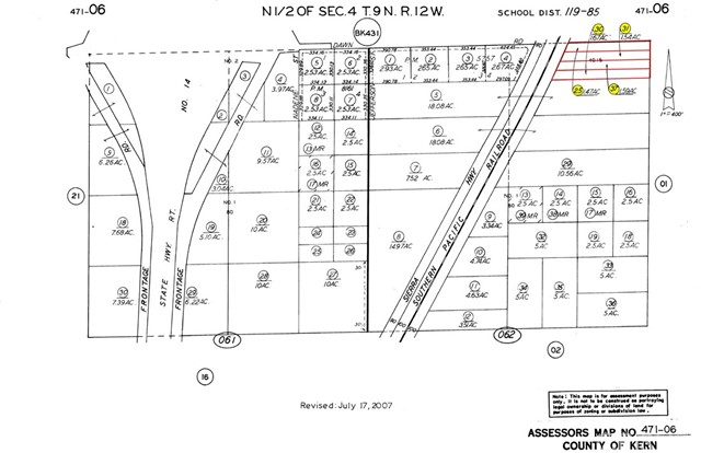 Detail Gallery Image 1 of 6 For 0 Dawn Rd. And Sierra Hwy, Rosamond,  CA 93560 - – Beds | – Baths