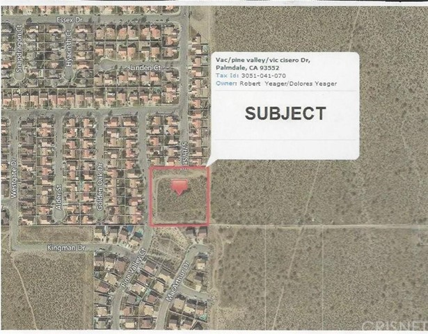 Property for sale at 0 Vac/Pine Valley/Vic Cisero Drive, Palmdale,  CA 93552