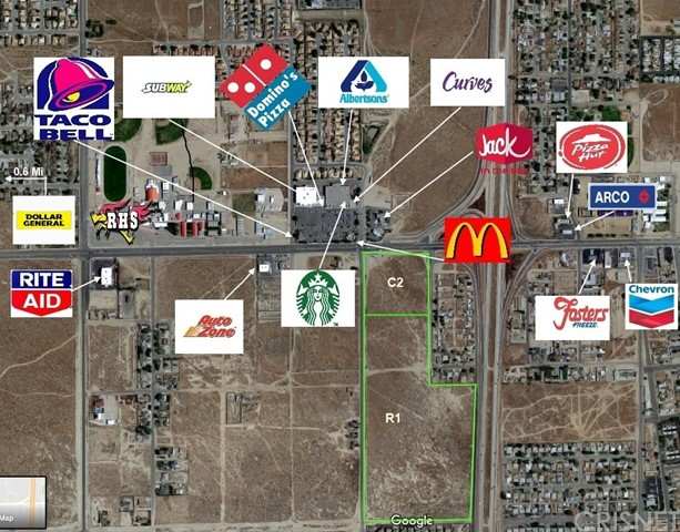 0 Rosamond Blvd./25th St. Commercial, Rosamond, CA 93560