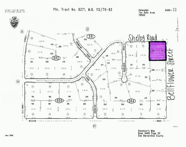 Property for sale at 0 Bellflower Street, Helendale,  CA 92342