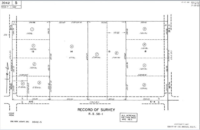 9301 Vac/Ave R4/Vic 92nd Ste Littlerock, CA 93543 - MLS #: SR16705949