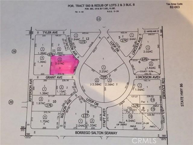 Land for Sale at 2091 Grant Avenue Salton City, United States