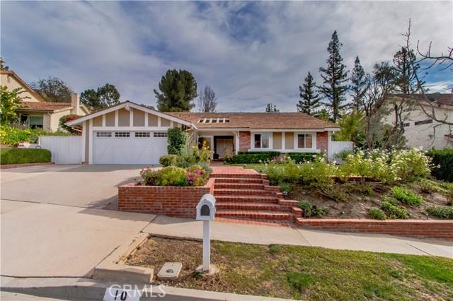 Single Family Home for Sale at 10 Peregrine Circle 10 Peregrine Circle Oak Park, California 91377 United States