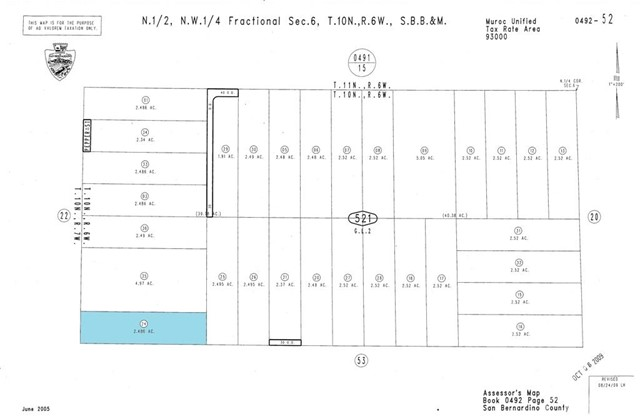 Single Family for Sale at 0 Vacant Land Kramer Junction, California United States