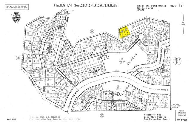 0 Burnt Mill Dr. and Rim of the World Drive Lake Arrowhead, CA 92352 - MLS #: SR17253777