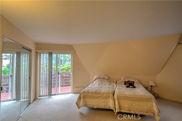 2nd bedroom has sliding glass door, deep closet and plenty of floor space.
