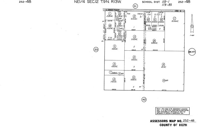Land for Sale at 42 St. And Sweetser Road 42 St. And Sweetser Road Rosamond, California 93560 United States