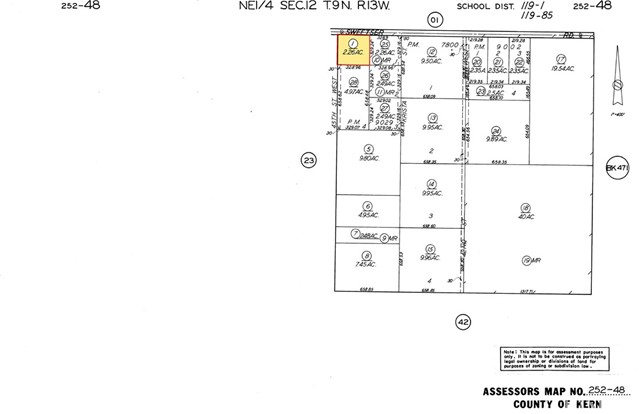 Detail Gallery Image 1 of 7 For 45 Street W Sweetser, Rosamond,  CA 93560 - – Beds   – Baths