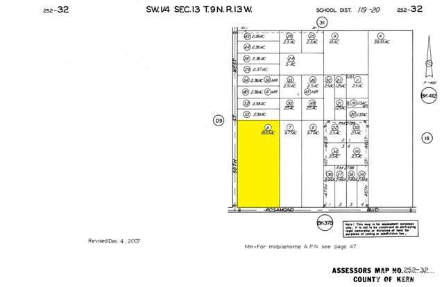 土地 为 销售 在 50 St. West & Rosamond Boulevard Rosamond, 93560 美国