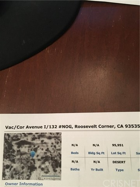 132 Vac/Cor Avenue I/132 Roosevelt, CA 93535 - MLS #: SR18215600
