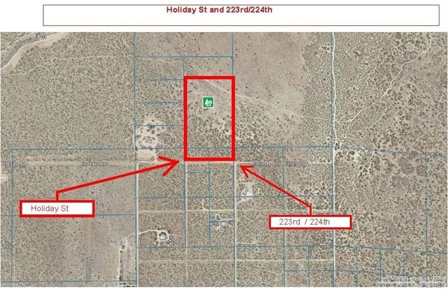 Land for Sale at 0 Holiday And 223rd Rosamond, California United States