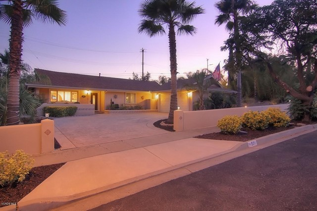 Photo of home for sale at 501 Vallerio Avenue, Ojai CA