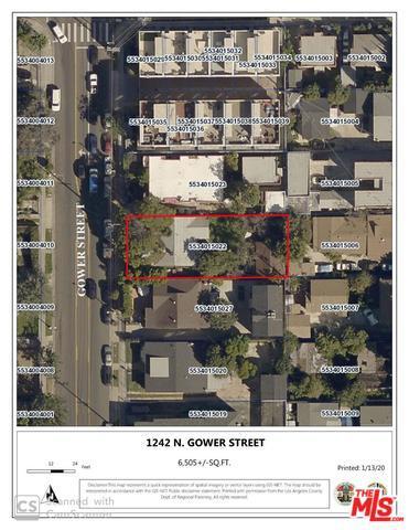 1242 N GOWER Street #  Los Angeles CA 90038