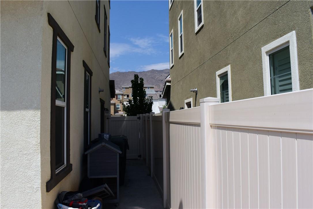 Backyard east side of property