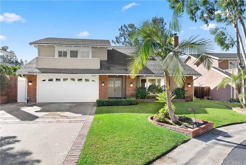 A beautiful Lake Forest pool home! Over 2100 sqft, remodeled, cul de sac location, member of Beach and Tennis Club.  This home boasts over 2100 sqft of living space, 4 bedrooms, 2.5 baths of remodeled beauty! Enter the double door entry to soaring ceilings with skylight. Large open floorplan with formal living room with cozy fireplace, formal dining room w modern lighting. Spacious family room and kitchen w plenty of windows for natural light.  Completely remodeled kitchen with custom cabinets and beautiful stone counters w glass backsplash.  Quality stainless appliances:  Wolf stove, Viking microwave, Samsung refrigerator and Maytag dishwasher. Farmhouse sink, stainless faucet, LED lights and Eat-at breakfast bar.  Remodeled powder room with pedestal sink, and custom lighting. Huge master bedroom with volume ceiling, French doors & balcony.  Master bath with custom stone work and stainless fixtures. Walk-in master closet with organizers. Remodeled secondary bathroom with custom counters, flooring, lighting & tub surround.  All secondary bedrooms have mirrored wardrobe doors, 2 w sliding glass doors to balcony, one w built in desk and shelves.  An entertainer's back yard w sparkling pool and spa, pavers decking, grassy area, block wall, vinyl fencing.  Vinyl windows throughout. Inside laundry. 2 refrigerators, washer and dryer included! Oversized 2 car garage with overhead storage and cabinets.  Close to schools, Beach and Tennis Club, entertainment and freeways!