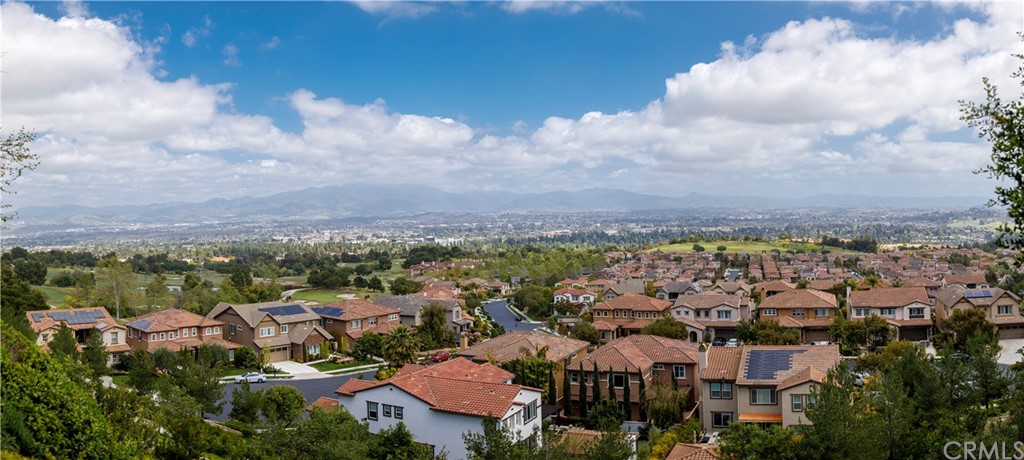 Nestled above Aliso Viejo Golf Course, this GROUND FLOOR CONDO features an AMAZING VIEW of Saddleback Valley/Mountains, ONE CAR GARAGE DIRECT ACCESS Plus YARD!!! NO STAIRS. 2019 Renovation includes: PEX PLUMBING SYSTEM, WINDOWS, WATER HEATER, PROVENZA HARDWOOD FLOORING; CUSTOM DESIGNER BATHROOMS include: WHITE SUBWAY TILE in showers with Italian MARBLE TILE  in HEXAGON shape accenting shower pan and soap boxes with MOHEN FIXTURES and Pottery Barn/Crate & Barrel Mirrors. PAINTED CEILING TO FLOOR in Benjamin Moore SIMPLY WHITE + HALE NAVY CABINETS + WICKHAM GRAY in both Bedrooms. GARAGE has built in STORAGE. Located a short drive to LAGUNA BEACH & Aliso Viejo TOWN CENTER, a short walk to RIDGECREST PARK with BBQ with PICNIC TABLES, TOT LOT, TENNIS, BASKETBALL COURTS with FITNESS STATIONS. Truly Aliso Viejo's best kept secret. Schedule your showing today, FALL IN LOVE, make an offer!