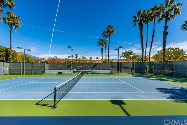 Includes tennis courts