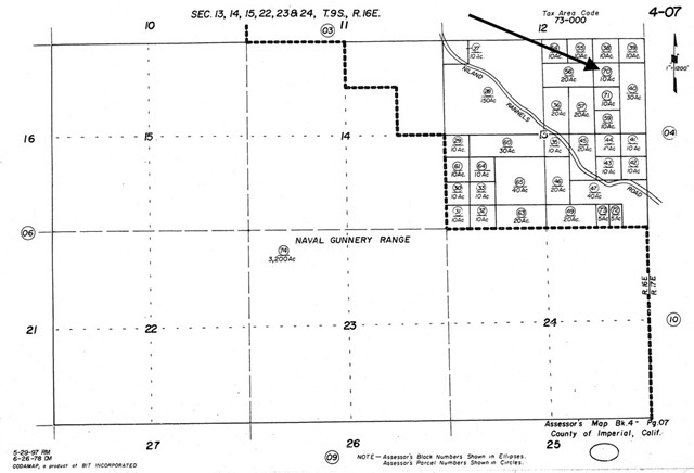 0 SW4 OF NE4 OF NE4 SEC 13 9-16 10AC, Brawley, CA 92227