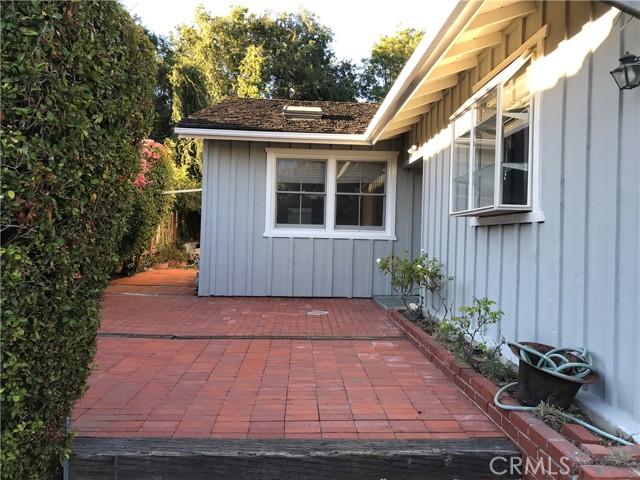 Brick Patio at Front Entry