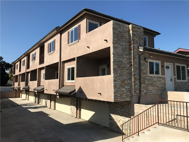 This condo is unparalleled in location and design completed in April 2017.  Two suites plus half powder room with enclosed two car garages and an additional guest parking.  High ceiling with Two big decks. New kitchen with Granite counter top, stainless steel stove, tile flooring.  Laminated floor through out the whole unit.  Walking distance to Train Station, Downtown Covina, grocery stores, banks and restaurants. Including Trash and Gardening