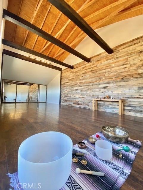 700 sq ft yoga studio in barn