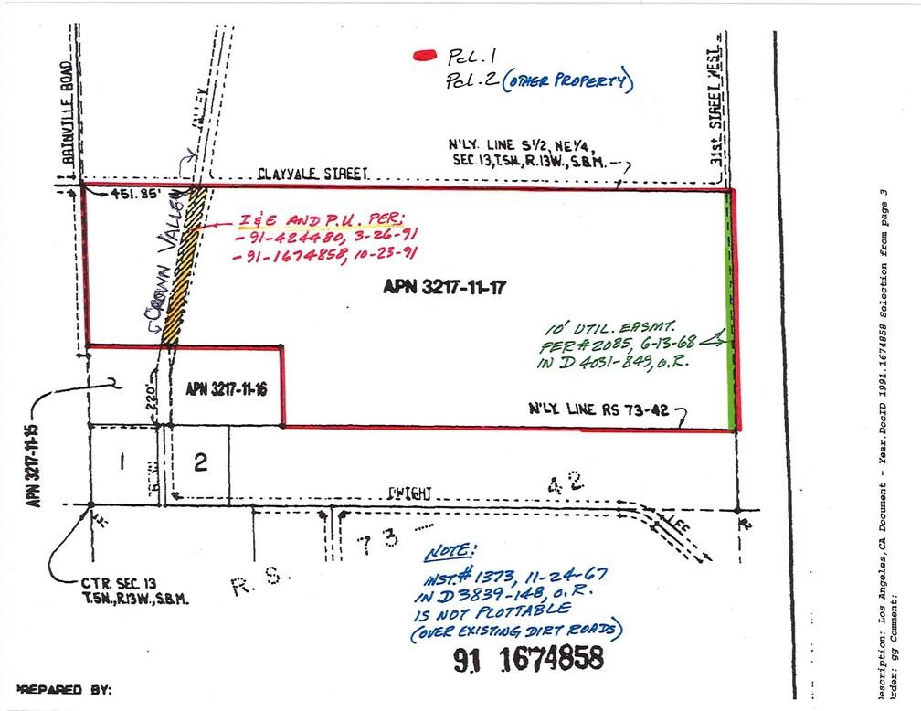 0 Vac/Cor Crownvalley Rd/Claydal, Acton, CA 93510