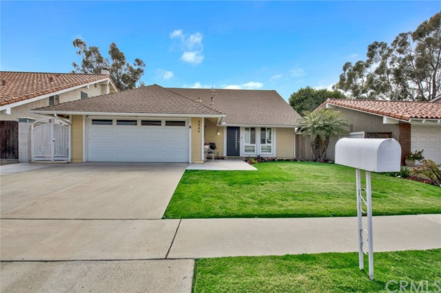 Welcome to 2342 Apple Tree Drive, a Gorgeous Single Level Home Located on a Cul-De-Sac Street in the City of Tustin. This Newly Remodeled Home Showcases Three Bedrooms, Two Full Bathrooms, Large Backyard, Luxury Vinyl Plank Flooring, and Ample Natural Light Throughout. The Spacious Family Room Enjoys a Vaulted Ceiling, Plantation Shutters, and Opens to the Kitchen. The Fully Remodeled Kitchen Enjoys an Oversized Island with Seating, Quartz Counters, Stainless Steel Appliances, New KitchenAid Fridge, Mini Beverage Fridge, Breakfast Nook, and Backyard Access. The Master Suite Enjoys Two Closets, Walk-In Shower, and Dual Vanities. The Spacious Backyard is Perfect for Entertaining, Showcasing a Large Patio, Grass Area, Built-In BBQ, Fruit Trees, Garden Beds, and Multiple Seating Areas. Attached Two Car Garage with Direct Access. No HOA and No Mello-Roos! The Superb Location is Walking Distance to Shopping Centers and Magnolia Park. Short Drive to The District in Tustin and Tustin Marketplace. Easy Access to the 5/55/405 Freeways and the Toll Roads. 2342 Apple Tree Drive Is a Must See!