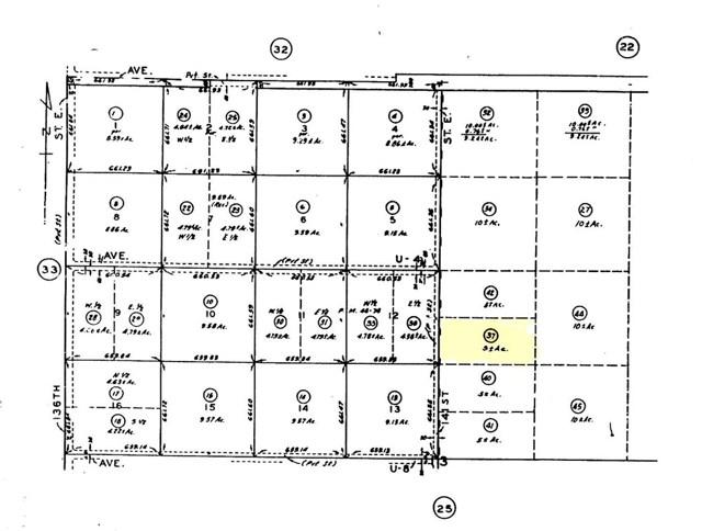 0 Vac/141 Ste Drt /Vic Avenue U6, Pearblossom, CA 93553