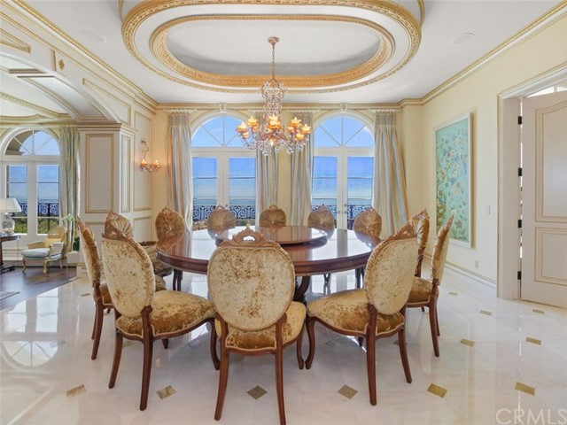 Formal Dining Room with View