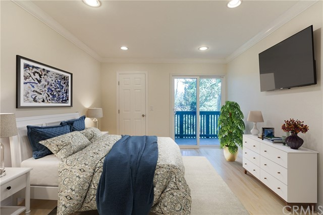 Virtually Staged - Master Bedroom