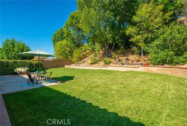 Fully landscaped backyard