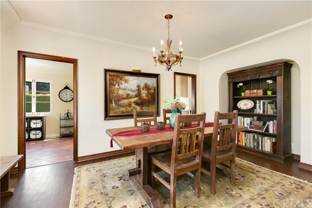 Formal Dining Room and View to the Breakfast Room (currently used as an office)