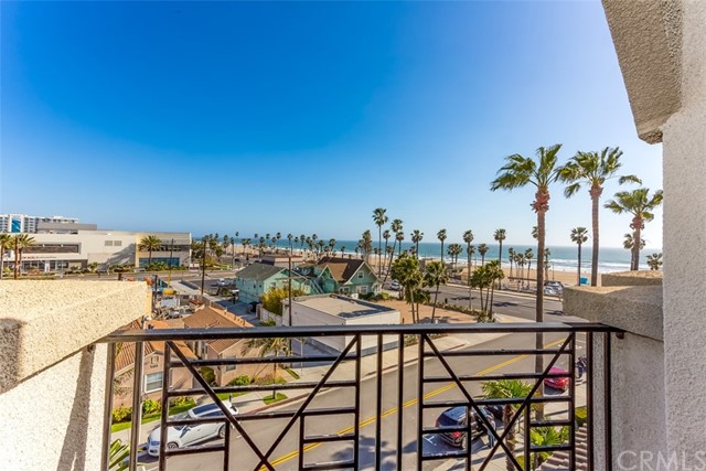"""LOCATION LOCATION LOCATION....OCEAN & COURTYARD VIEWS….DUAL MASTERS…. This is your chance to live in one of the Largest 2 bedroom floor plans downtown. Stunning ocean views from dawn till dusk and into the night. This Rare find offers """"3"""" glass sliding doors enabling seamless ocean and courtyard views! Light and Bright/ Open Floor Plan. Kitchen opens to the Living room. Brand new stainless steel appliances. Refrigerator, Front load Washer & Dryer *included. Bedroom #1 offers an Ocean View, Large Master Bath with ample of closet space, Private shower, and separate Bathtub. Across the hallway. Bedroom #2 offers a walk-in closet, Private bath with a shower, and a Very Large Covered Patio with views of the Lush Courtyard and the peaceful sound of the newly remodeled fountain. Here, in the Heart of Surf City Huntington Beach California, lies a gated Luxury resort community with only the Highest of Standards. The grounds are Pristine and the Ocean Air is Crisp- every day of the year. Enjoy the Most AMAZING Sunsets, The Airshow, The US OPEN Surf Competition, all sport tournaments, and The 4Th of July Fireworks show beachfront! Walk to The Beach, Main Street, The Pier, Farmers Market, The Pierside Outdoor Amphitheater, Boardwalk or The All-New PACIFIC CITY. This condo is a dream for everyday living and The Perfect destination getaway."""