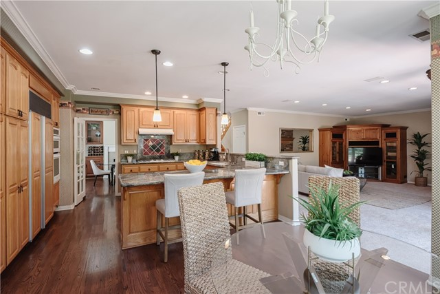 Expansive Kitchen, informal Dining area, and Family Room