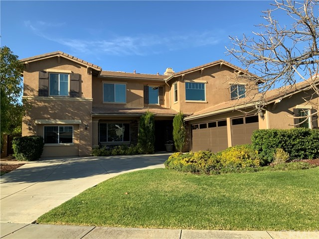 Beautiful Executive Home in a very desirable community of South Corona. Located in Chase Ranch in the Mirasol Community. This is plan number four, the largest of the track, built in 2003 and located in a cul-de-sac with beautiful views. Two story build with 4,079 square feet. Offering 6 bedrooms, one currently being used as an office with double glass doors and built-ins. Large master bedroom with his and hers closet, separate shower and tub and lots of cabinet space. Jack and Jill bedrooms, Large laundry room and open ceilings. Formal dining room, formal living room and a large family room to enjoy.  Lots of windows, shutters and crown mouldings.  Granite counter tops, lots of spacious kitchen cabinets and energy efficiency appliances. Walk in pantry, beautiful built-ins and more. Three car garages. The fourth car garage was permitted and converted into a media or play room.  Entertainers back yard with waterfall feature, spa and beautiful gazebo. Sellers are original owners, and now relocating out of state. more pictures to come.