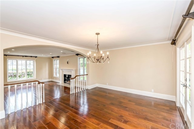 Formal dining area, french-doors to backyard