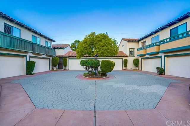 courtyard driveway to your home