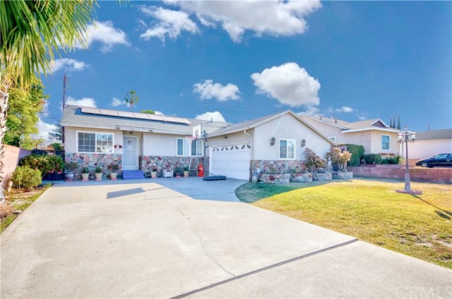 Single Level Pool Home in the High in Demand City of Hacienda Heights! Lovely ranch style home w/Solar, Sparkling Pool & Great functional floor plan with 3 bedrooms & 2 bathrooms. Formal living room open up to the adjacent family room w/French door access to your large backyard. Elegantly remodeled galley kitchen w/granite countertop, custom cabinets & stainless steel appliances, kitchen opens up to dining nook. All 3 bedrooms are abundant in size & share 2 large remodeled baths. On top of it all, Backyard is an entertainer's delight w/Huge sparkling pool, gazebo & tons of space to entertain family & friends! Two car garage w/direct access & over-sized gated driveway for extra parking! More Great Features include; Indoor laundry room, ceiling fan in each bedroom, recessed lighting & much more! Centrally located near Great schools, shopping, parks, grocery stores, dining, entertainment & easy freeway commute! Don't miss the Once in a Lifetime Opportunity to call this HOME. This one will not last!