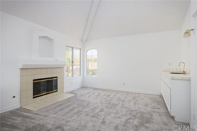 Master suite with their own living room, natural gas fireplace and wet bar.