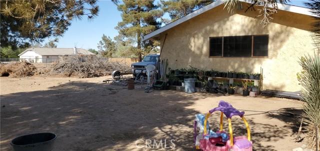 Backyard and side of workshop
