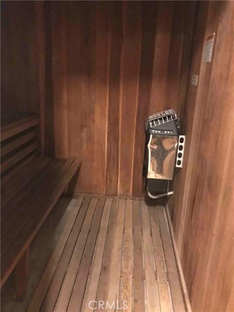 Dry sauna by pool area