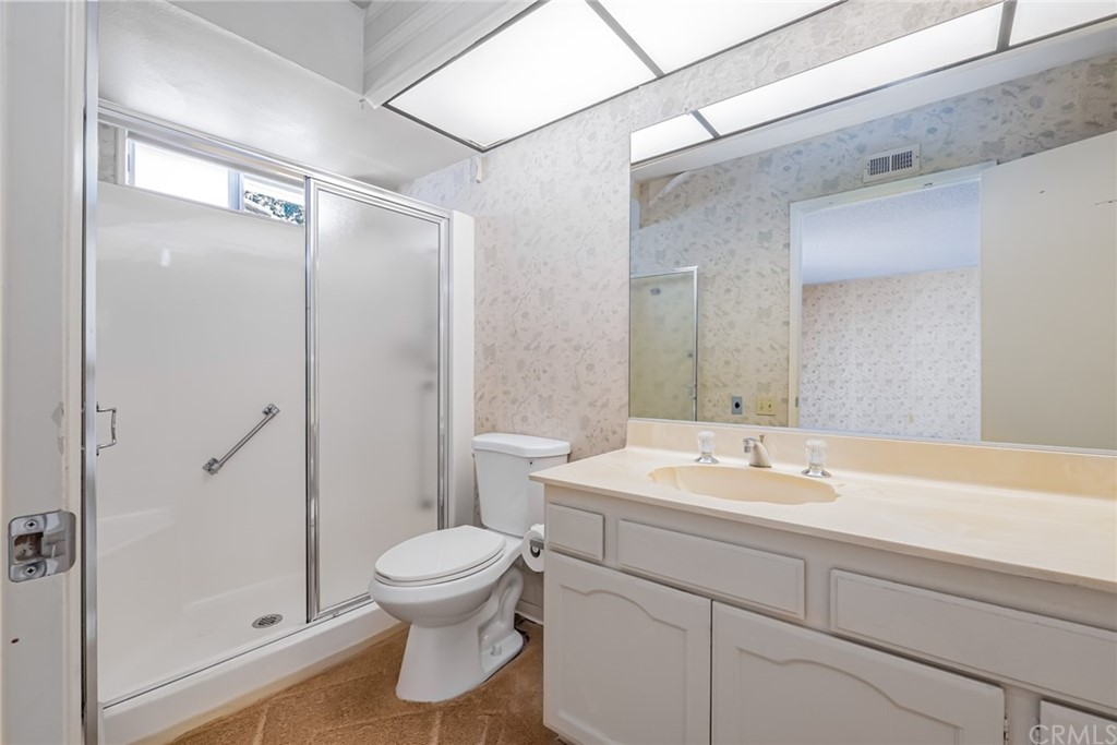 Master Bedroom Mirrored Closet Doors & Door to Master Bathroom