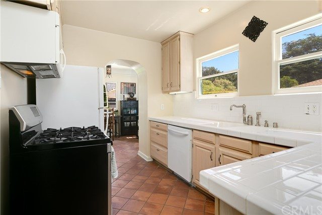 Light and Bright Kitchen with Subway Tile Countertops