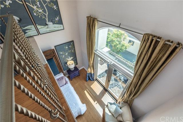 View From Loft In Master Bedroom