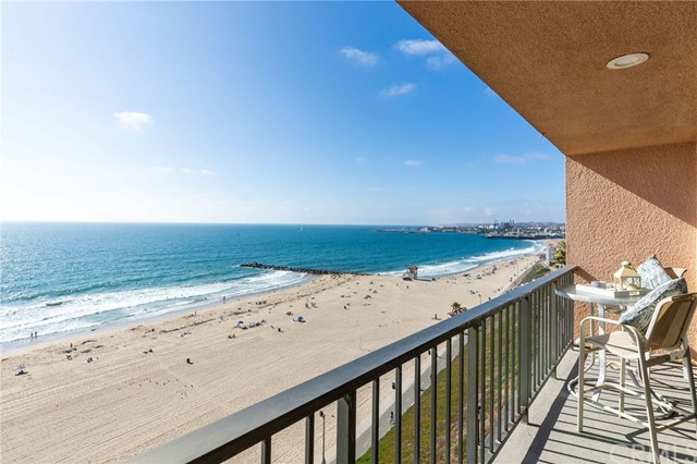 The ultimate beach front lifestyle awaits you! This fabulous Oceania penthouse condo features staggering endless views from Palos Verdes to Malibu. You can enjoy the ocean waves, watch dolphins and take in the breathtaking sunsets from the kitchen, living room or balcony. One of the best locations in Redondo, with steps to the beach and conveniently located between the Riviera Village and Hermosa Beach. A spacious master bedroom, ample closets throughout, bathroom with dual sinks, stainless steel appliances, and one parking spot and storage unit in the subterranean parking structure – with elevator access to the unit, of course. What more can you ask for? Don't miss this fabulous opportunity!
